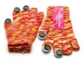 Dotykové rukavice BOMA Touch Effect červenožluté
