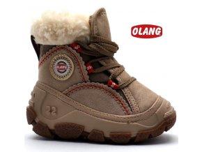 Zimní obuv OLANG PANDA 88 sv. béžové