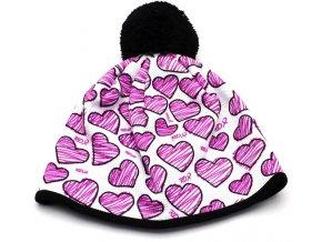 čepice zimní RDX funkční 3577 Škrábané srdce 22