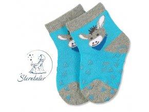 Protiskluzové ponožky STERNTALER 8011781 oslík
