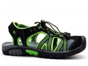 Sandále SCANDI 55-0248-X1 černozelené 443e6a50a2