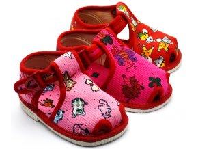 Bačkory dívčí HP Čechtín 505 sandál, přezka