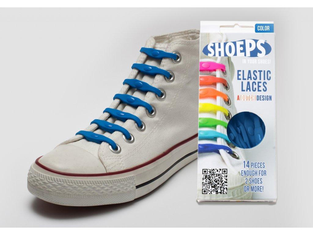 SHOEPS Sky blue silikonové tkaničky