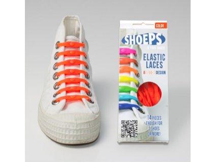 SHOEPS Orange silikonové tkaničky