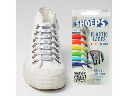 SHOEPS Silver silikonové tkaničky