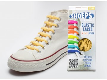 SHOEPS Yellow sunny silikonové tkaničky