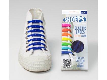 SHOEPS Blue silikonové tkaničky