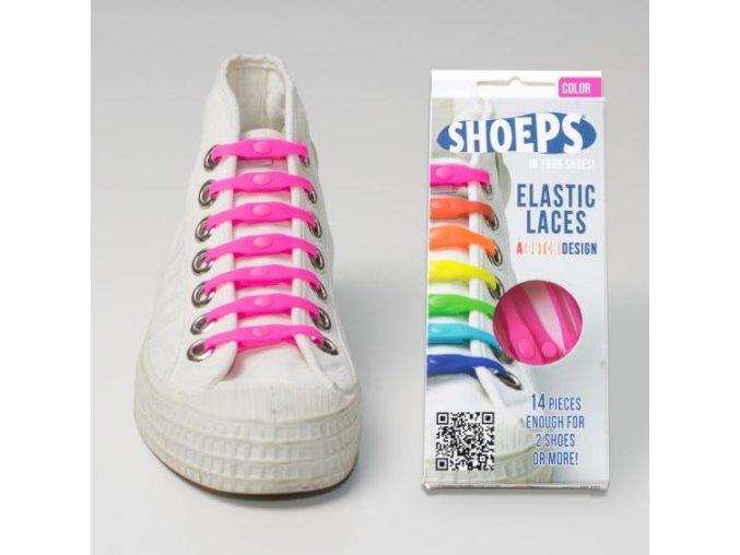 SHOEPS Pink silikonové tkaničky