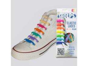 SHOEPS Mix silikonové tkaničky