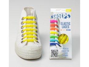 SHOEPS Yellow silikonové tkaničky