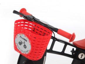 Košík na řídítka červený
