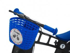 Košík na řídítka modrý