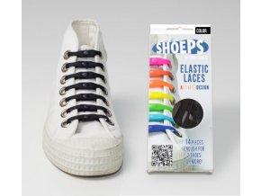 SHOEPS Black silikonové tkaničky