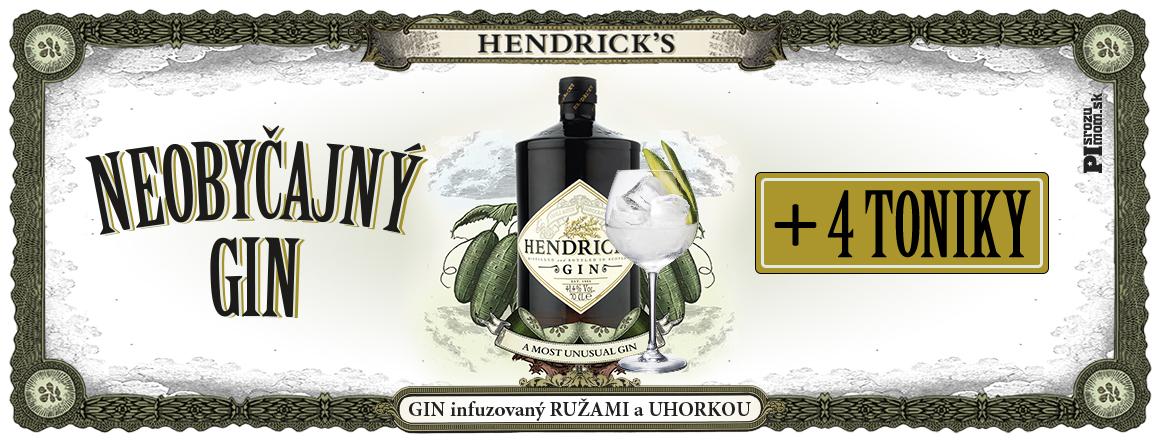 Ku fľaši Hendrick´s ginu dostanete od nás 4x SanPellegrino tonic grátis