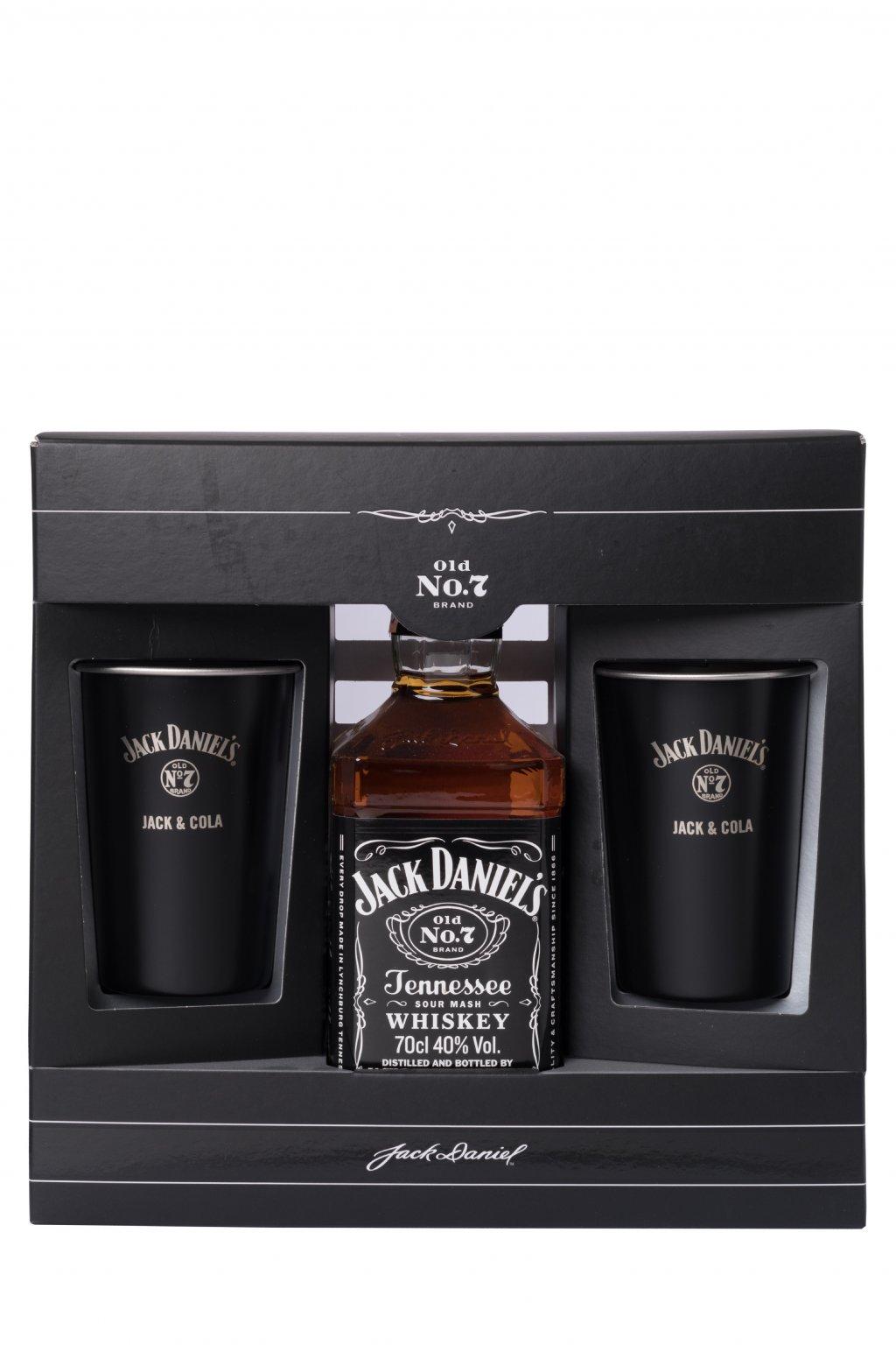 JACK DANIEL´S 0.70L 40% + 2 PLECHÁČIKY  + K produktu darček grátis