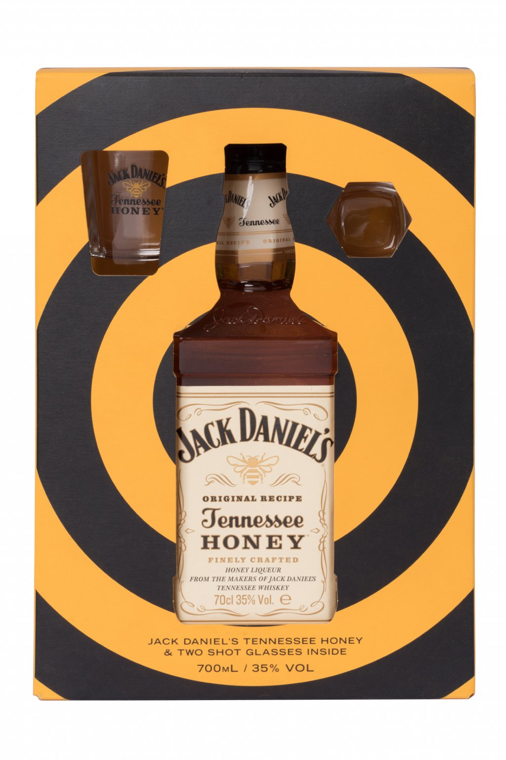JACK DANIEL´S HONEY 0.70L 35% + 2 POHÁRE