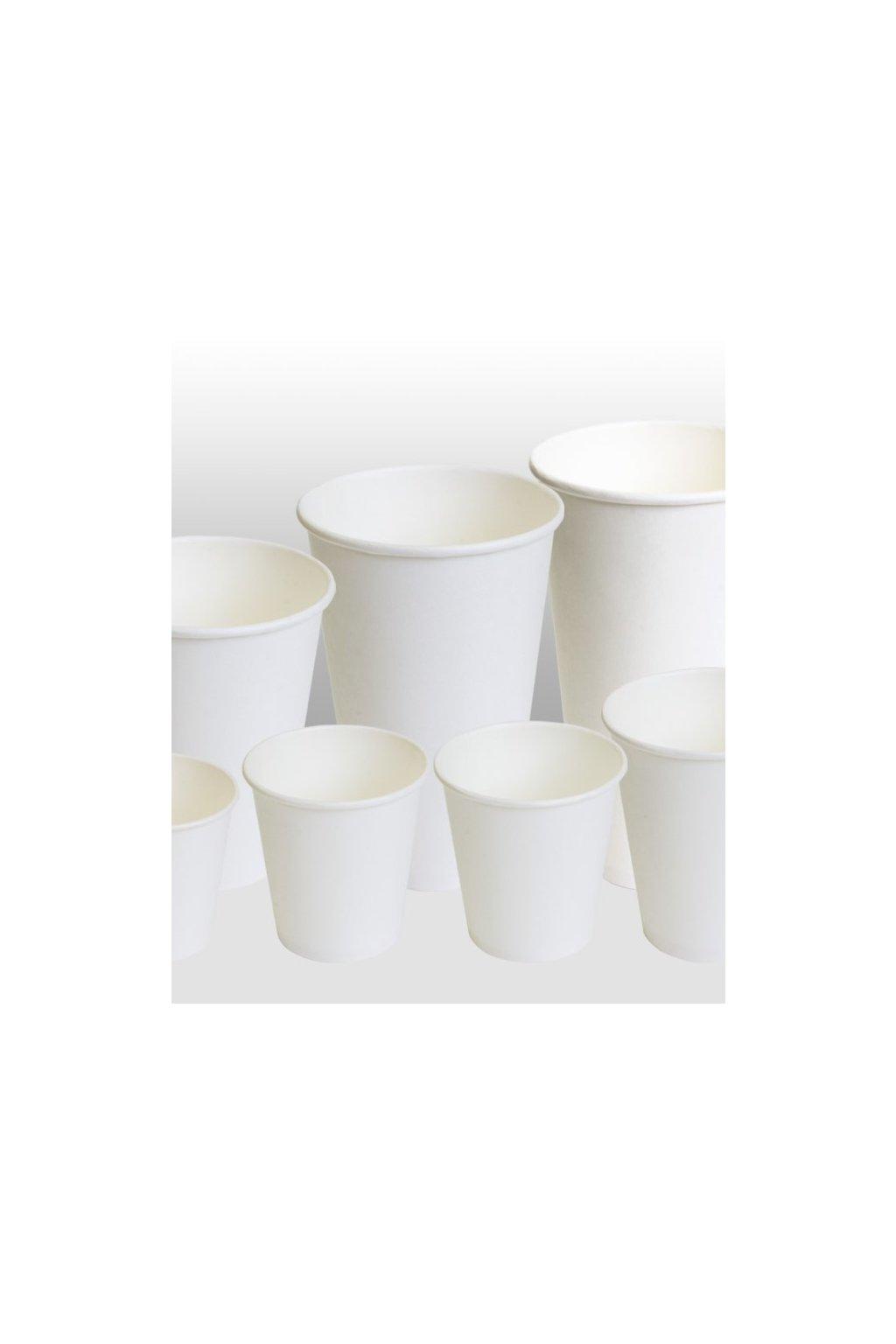 white paper cups