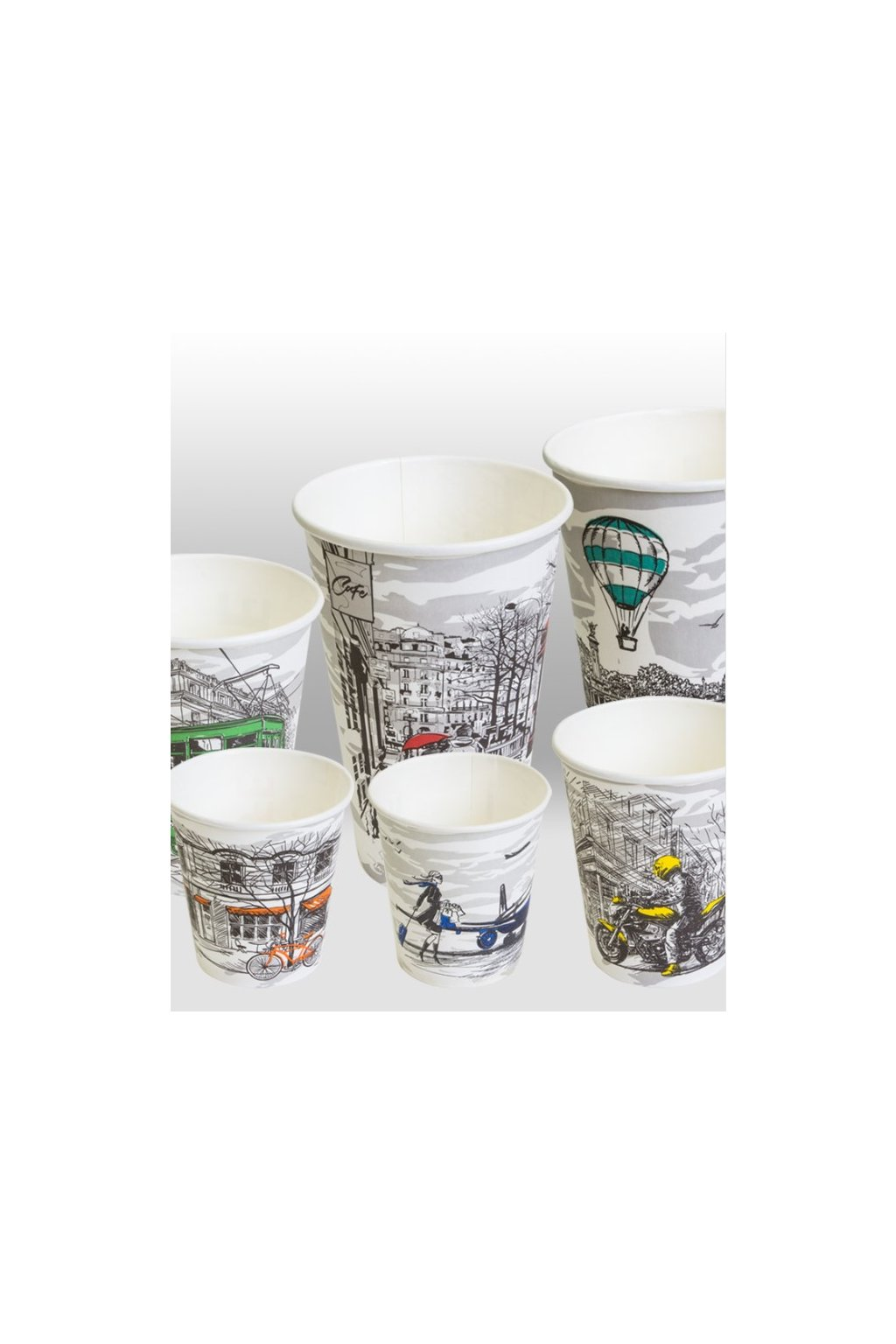 big city life paper cups