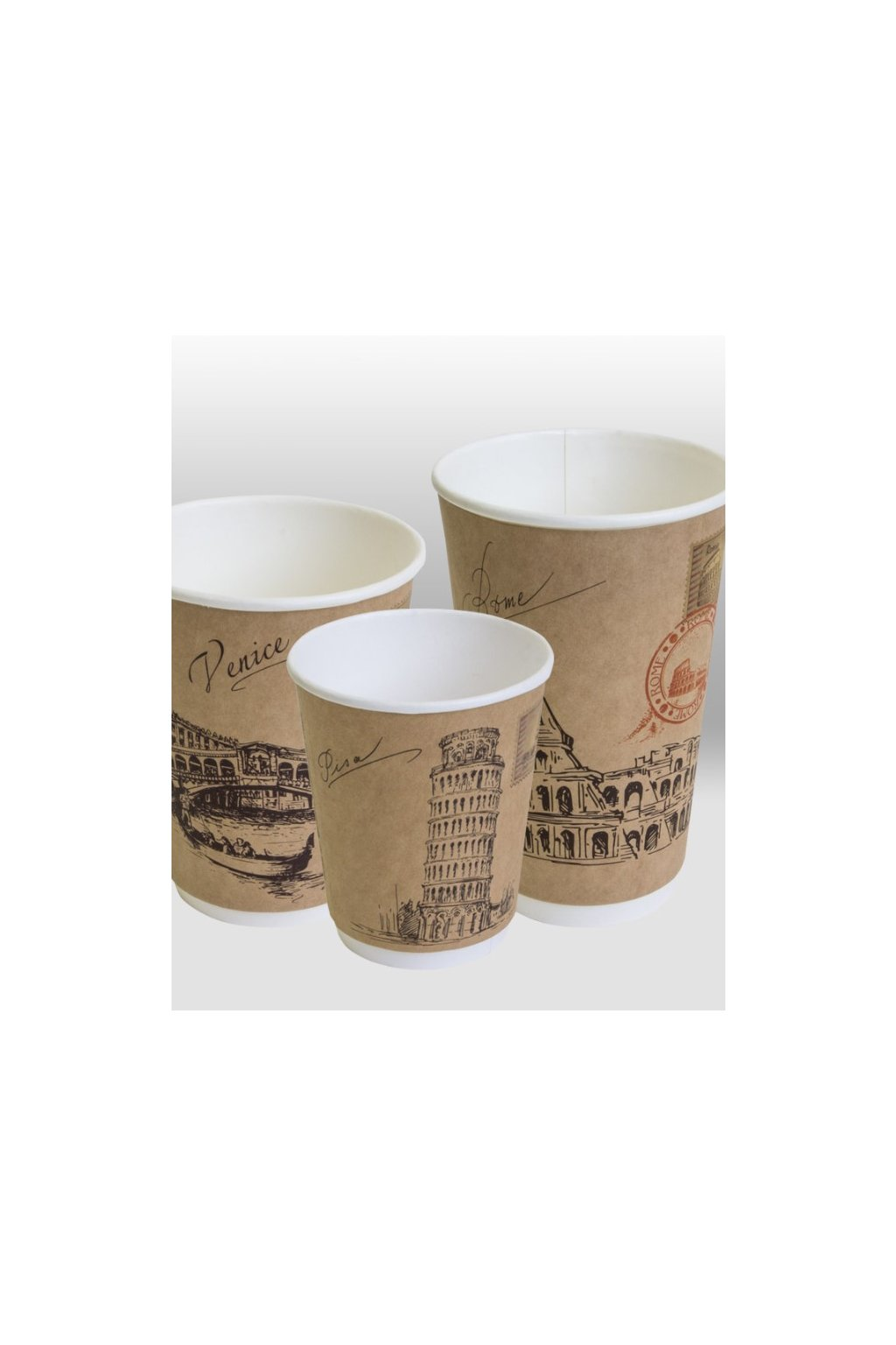 cities of the world double wall paper cup