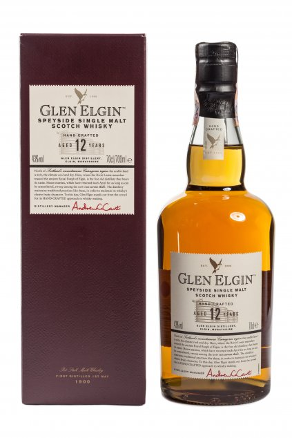 Glen Elgin s krabicou