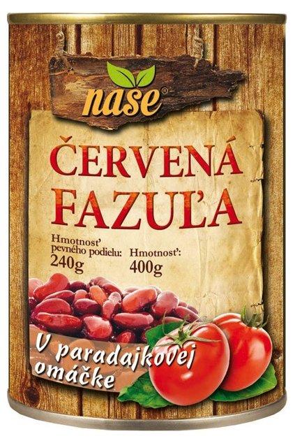nase cervena fazula paradajkova omacka