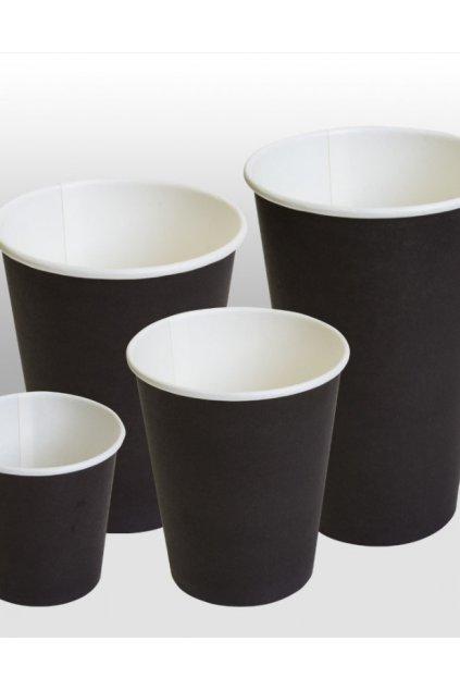 black paper cups