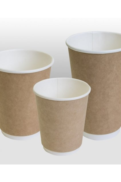 kraft double wall paper cup