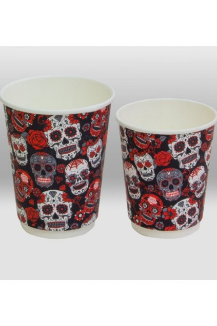 santa muerte double wall paper cup