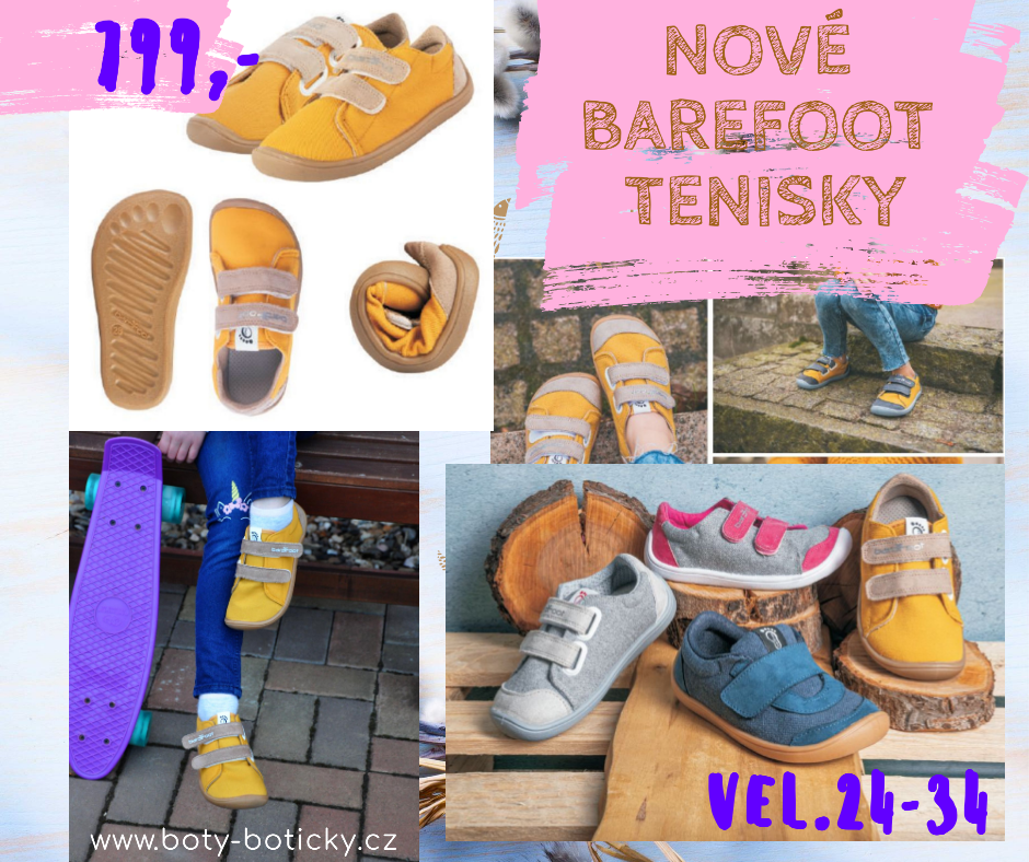 Nové barefoot tenisky bar3foot