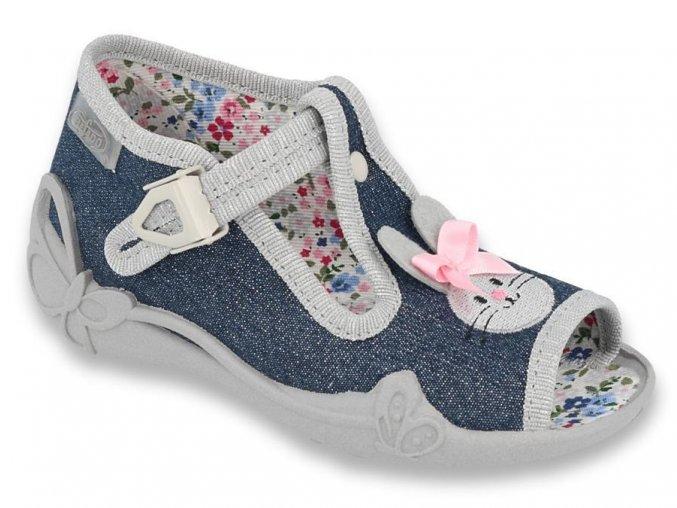 Befado bačkory sandálky modrý zajíček