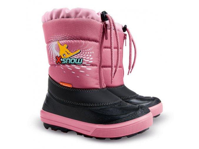DEMAR - Dětská zimní obuv KENNY 2 1532 NA X-SNOW růžové