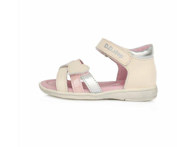 D.D.Step K03-789A sandálky růžové srdíčko