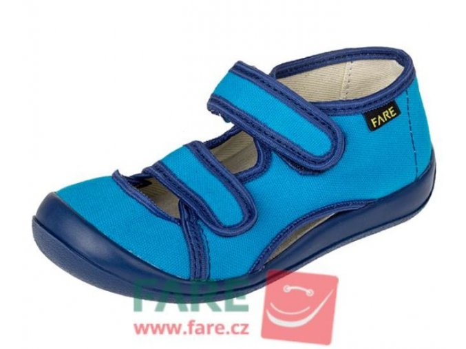 fare textilni sandalky