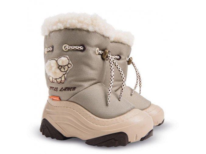 Dětské zimní boty, dětské sněhule, sněhule demar, sněhule lamb, sněhule šněrování, akce sněhule, levné sněhule, dětské teplé sněhule, sněhule ovčí vlna
