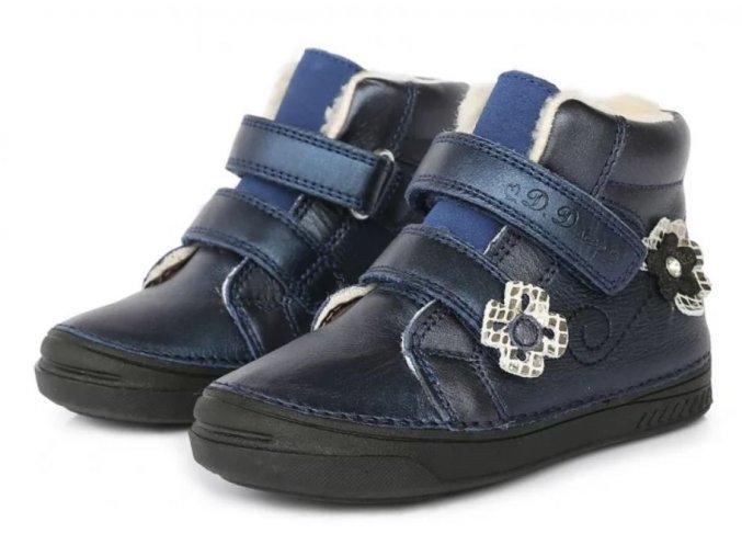 dětské zimní boty D.D.step, zimní barefoot boty, ddstep zimní, D.D.Step zimní boty 040-401BL, zimní boty akce, zimí boty ddstep velikost 34