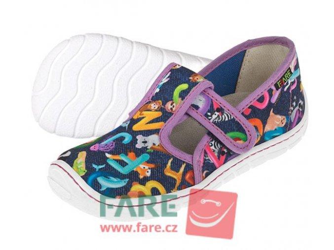 Bačkory Barefoot Fare Bare na suchý zip 5102491 růžové