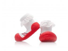 Attipas Ballet AB01 červené RED ponožkoboty