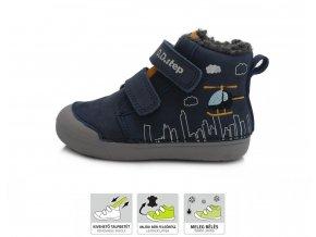 D.D.Step zimní boty 066-806 royal blue, dětské zimní boty D.D.step, zimní barefoot boty, ddstep zimní, zimní boty akce, zimní boty ddstep velikost 25