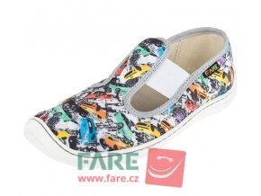 Bačkory Barefoot Fare Bare na suchý zip 5201402