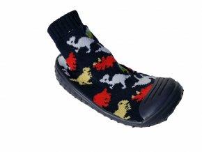 Anatomic ponožkoboty dinosauři, barefoot bačkory, barefoot anatomic, anatomic bačkory, kluk bačkory miminko, papučkydino1