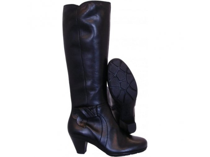 merissa ladies long boot in black leather p5947 95272 medium