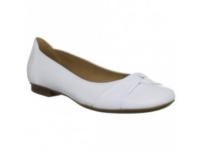 gabor frost 84 111 21 white leather pump with leather trim p820 2598 medium