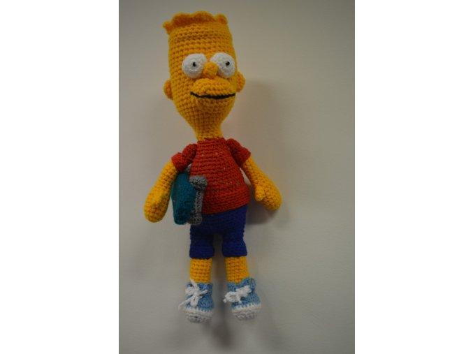 Háčkovaná hračka Bárt Simpson