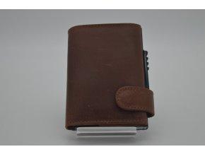 Kožená peněženka SPOCK hnědá s technologií RFID