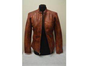 Kožená bunda dámská - vypasovaná