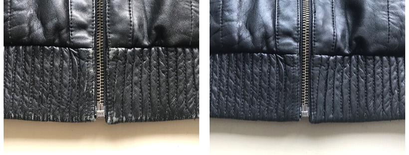 Oprava odřené kožené bundy