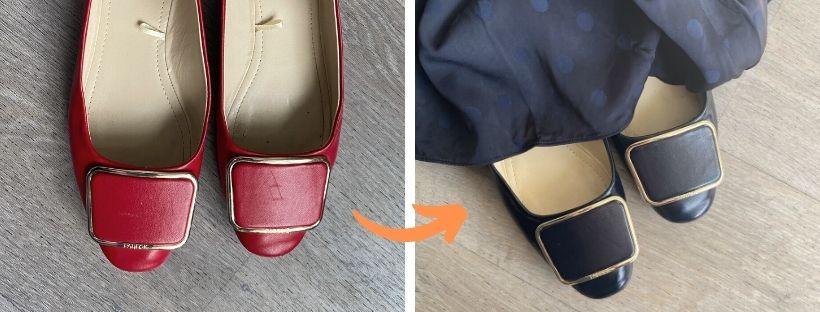 Jak přebarvit poškozené balerínky na jinou barvu?
