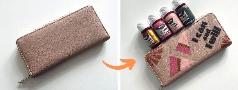 Malování na peněženku s Barvami Easy Dye