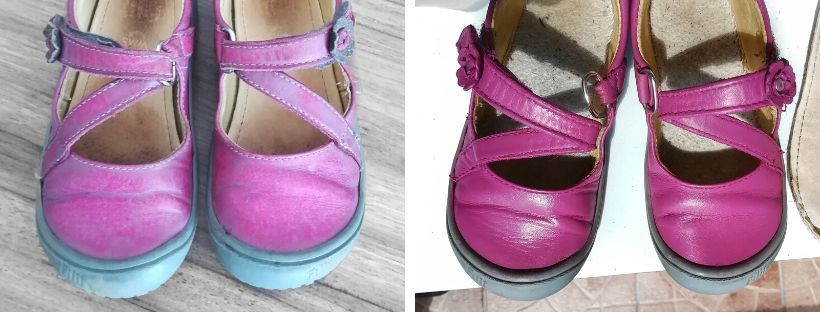 Nabarvení odřených dětských botiček