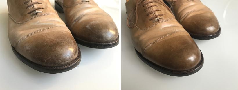 Oprava odřených a poškrábaných kožených bot